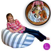 Stuffed Animal Storage Bean Bag Chair $36 SHIPPED!