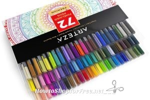 72ct. Arteza Fineliner Pens 76% OFF on Lightning Deal, Hurry!