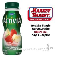 Activia Drinks ONLY 35¢ at Market Basket 08/13 ~ 08/19!