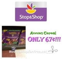 Annie's Organic Cereal only 67¢!