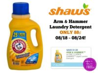 Arm & Hammer Laundry Detergent ONLY 88¢ at Shaw's 08/18 ~ 08/24!!