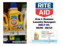 Arm & Hammer Laundry Detergent ONLY 99¢ at Rite Aid ~ Good Through 08/12!!
