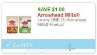 **NEW Printable Coupon** $1.00/1 Arrowhead Mills Product