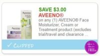 **NEW Printable Coupon** $3.00/1 AEENO Face Moisturizer, Cream or Treatment product