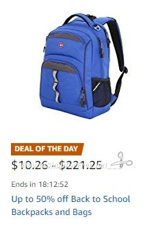 **Amazon Deal of the Day** Save Up to 50% on Back to School Backpacks – TODAY ONLY ~ As Low As $10.26!!