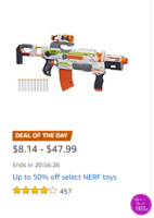 Up to 50% off NERF Toys ~Deal of the Day