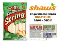 Frigo Cheese Heads ONLY $1.99 at Shaw's 08/04 ~ 08/31 – Big Book of Savings!