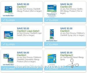 image regarding Claritin Coupon Printable identified as Clean Printable Discount coupons** 6 Claritin Discount codes Pre-Clipped for