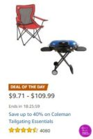 **Amazon Deal of the Day** Save up to 40% on Coleman Tailgating Essentials!!