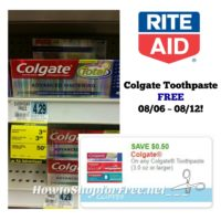 Did You Get Your FREE Colgate Toothpaste at Rite Aid? Good Through 08/12!