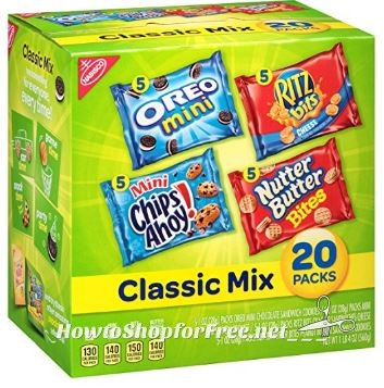 **Amazon BTS Deals** Nabisco Classic Cookie and Cracker Mix (20 ct) ~ ONLY 36¢ Per Pack!!