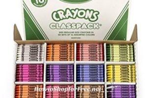 **Amazon BTS Deal** Crayola Classpack Assortment, 800 Regular Size Crayons ~ Less than 6¢ Per Crayon!