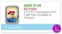 **NEW Printable Coupon** $1.00/1 packages of EZ Foil Pans