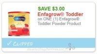 **NEW Printable Coupon** $3.00/1 Enfagrow Toddler Powder Product