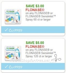 picture relating to Flonase Coupons Printable named Fresh Printable Discount coupons** 2 Flonase Coupon codes Pre-Clipped for