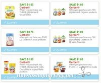 **NEW Printable Coupons** 6 Gerber Coupons Pre-Clipped for You!