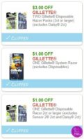 **NEW Printable Coupons** 3 Gillette Coupons Pre-Clipped for You!