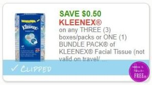 photo about Kleenex Printable Coupon named Fresh Printable Coupon** .50/3 bins/packs or A person (1) Package