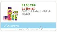**NEW Printable Coupons** $1.50/1 full-size La Bella product