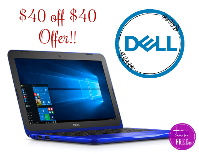 Dell $40 off $40 (single item) HOT #BacktoSchool Offer