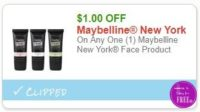 **NEW Printable Coupon** $1.00/1 Maybelline New York Face Product