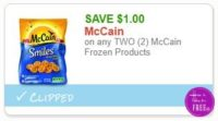 **NEW Printable Coupon** $1.00/2 McCain Frozen Products