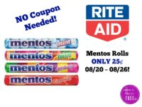 Mentos ONLY 25¢ at Rite Aid 08/20 ~ 08/26!!