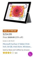 **Amazon Deal of the Day** Microsoft Surface 3 Tablet ~ ONLY $254.99!!