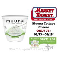 Muuna Cottage Cheese ONLY 75¢ at Market Basket 08/13 ~ 08/19!