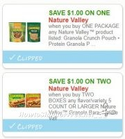 **NEW Printable Coupons** 2 Nature Valley Coupons Pre-Clipped for You!