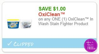 **NEW Printable Coupon** $1.00/1 OxiClean™ In Wash Stain Fighter Product