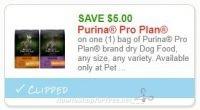 **NEW Printable Coupon** $5.00/1 Purina Pro Plan brand dry Dog Food
