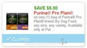 graphic relating to Purina Pro Plan Printable Coupons named Fresh Printable Coupon** $5.00/1 Purina Qualified Software model dry Pet dog