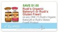 **NEW Printable Coupon** $1.00/1 Rudi's Organic Bakery or Rudi's Gluten Free Product