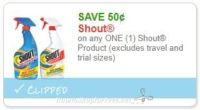 **NEW Printable Coupon** .50/1 Shout Product