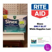 Sinex Cold Medicine ONLY $1.57 Rite Aid While Supplies Last (Clearance Item – YMMV)
