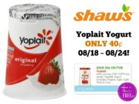 Yoplait Yogurt ONLY 40¢ at Shaw's 08/18 ~ 08/24!!