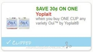 "photograph relating to Yoplait Printable Coupon referred to as Fresh Printable Coupon** .30/1 Ouiâ""¢ as a result of Yoplait How in direction of Store"