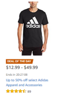 Up to 50% off Adidas Apparel/Accessories ~Today Only!