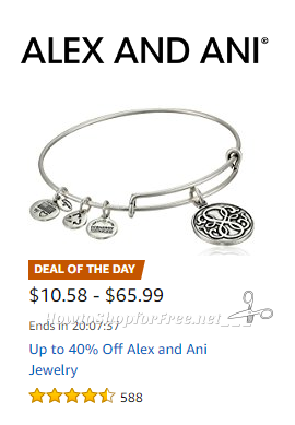Up to 40% Off Alex and Ani Jewelry, Today Only!