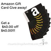 Who wants a $40 Amazon Coupon Code!