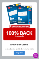 FREE Avery 8160 Labels at Office Depot!! (Limit 2!)