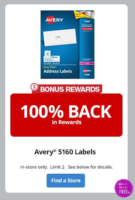 FREE Avery 5160 Labels at Office Depot!! (Limit 2!)