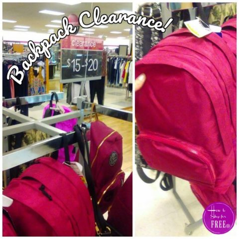 d397eac69e Backpack Clearance | How to Shop For Free with Kathy Spencer