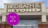 Bed Bath and Beyond $30.00 Coupon