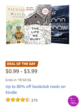 Up to 80% OFF #Bookclub Reads for Kindle, Today Only!