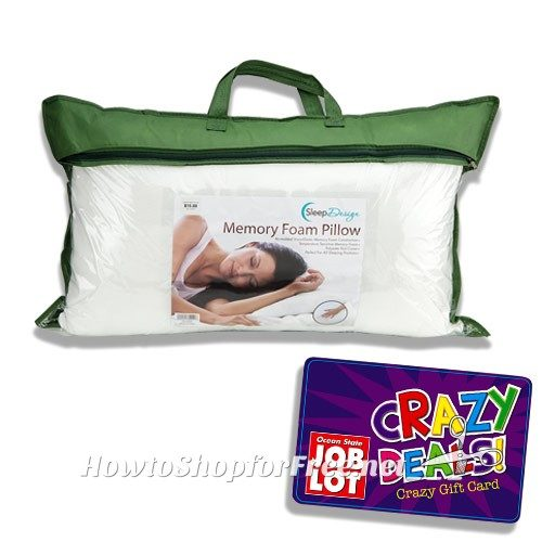 Wow~ $5 Memory Foam Pillow @ Job Lot!