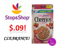 Very Berry Cheerios only $.09 at Stop & Shop!