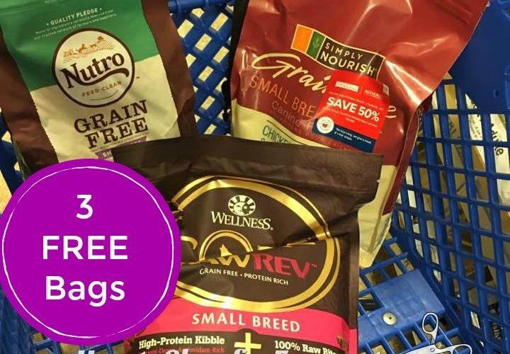 ~Easy FREEBIE!!    3 FREE Bags of Pet Food!!!