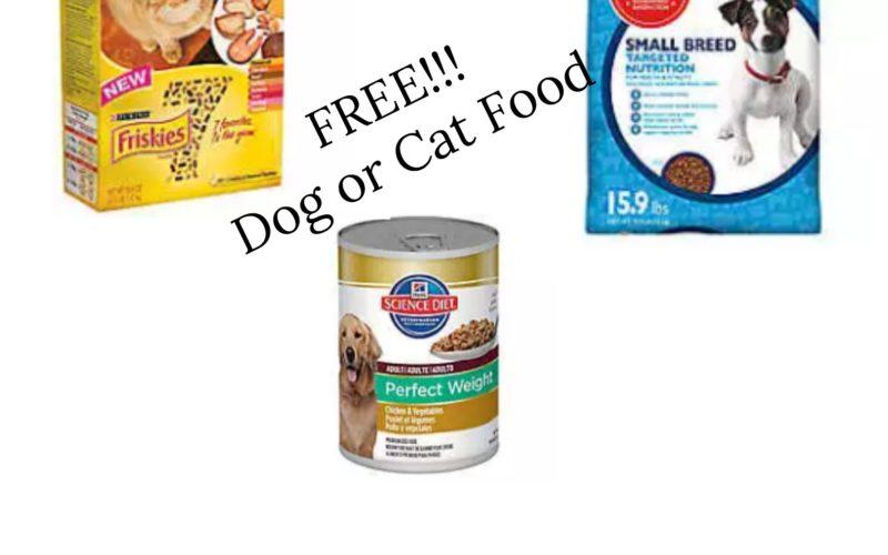 RUN!!!  FREE Cat and Dog Food!!!!